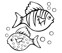 Small Fish Template Coloring Page Of Fish P4087 Fish Template Free Printable Documents