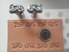 vintage leather stamping tools. vintage leather tools (unknown maker) - playing card suit stamps (4 tools) | stamping pinterest tooling, cards and d