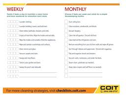 monthly house cleaning schedule template template weekly house cleaning schedule template