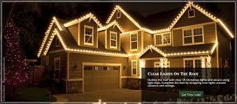 outside christmas lighting ideas. hang c9 christmas lights across the roof outside lighting ideas