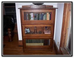 glass front bookcase barrister