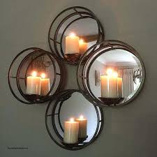 mirrored wall candle holders circle wall candle holder elegant four circles mirrored wall sconce for candles
