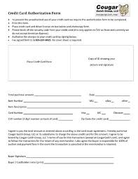cc auth form cc form cougar gulch group llc