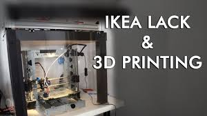 Printer stand ikea Diy Ikea Youtube Ikea Hack For 3d Printing Enclosing P3steel In Lack Table Youtube