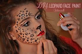 diy leopard face paint
