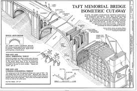 architectural drawings of bridges. Taft Memorial Bridge Drawings Architectural Drawings Of Bridges