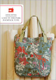 Tote Bag Sewing Pattern Interesting Digital A Day In The Park Backpack Tote Sewing Pattern Shop