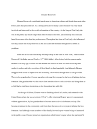 eleanor roosevelt essay eleanor roosevelt the united states