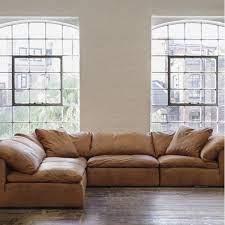 truman large sectional sofa in tan