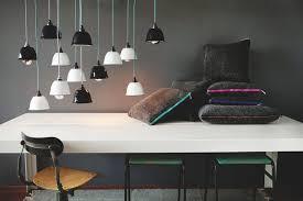 industrial inspired lighting. Enameled Industrial Lampshades Inspired Lighting