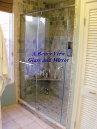 custom glass shower door installed in norfolk virginia