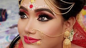 traditional bengali bridal makeup real indian bridal makeup tutorial