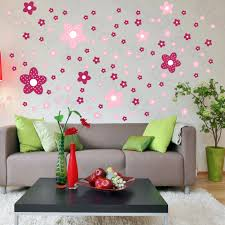 flower designs for living room. pink flower wall decals on living room designs for e