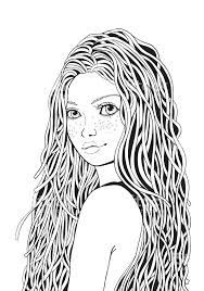 Cute Coloring Pages For Teenage Girls Cute Girl Coloring Pages