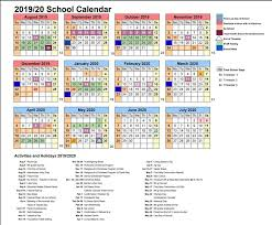 Year At A Glance Calendars School Calendar Year At A Glance St Anthonys Catholic