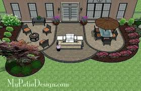 Designing A Patio Layout Outdoor Patio Brick Garden Design Concrete
