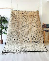 authentic beni ourain rug handmade moroccan rug vintage wool carpet berber rug