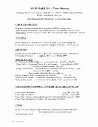 Music Resume For College Applications Luxury Music Resume Template