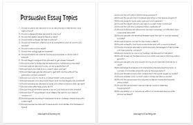 persuasive essay topics personal persuasive essay topics