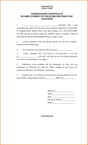 Employee Working Certificate Format template Letters Of Employment Template 48