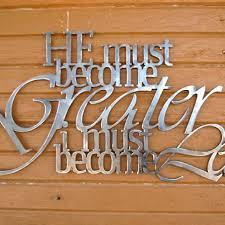 metal scripture wall hanging john 3 30 he must become greater