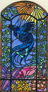 Authentic Art Nouveau Stained Glass Designs In Full Color Art Nouveau Stained Glass Stained Glass Windows Stained