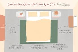 area rugs in bedrooms with choose the right size rug for under your king bed