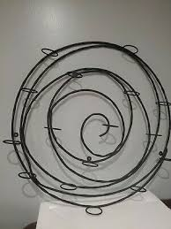 pottery barn spiral wrought iron glass