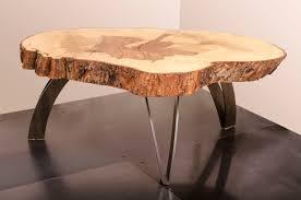 Live edge wood coffee table Cherry Custom Made Coffee Table Live Edge Maple Weathered Steel Custommadecom Hand Made Coffee Table Live Edge Maple Weathered Steel By Visual