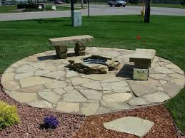 diy flagstone patio with firepit flagstone patio building stone outdoor fire pit