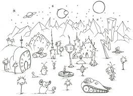 Small Picture 12 alien coloring pages Print Color Craft