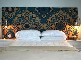 hang a rug as a headboard