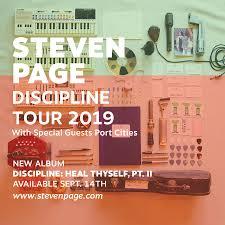 Steven Page Announces Discipline Tour 2019 W Tfa Backstage The