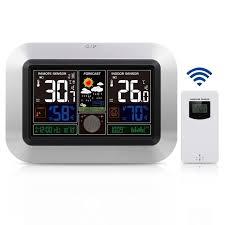 weather station wireless indoor outdoor sensor thermometer hygrometer digital alarm clock barometer best smart home alarm clocks