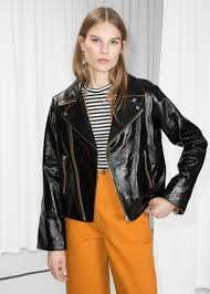 info other stories patent leather biker jacket 495 00