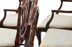 hepplewhite shield dining chairs set:  mahogany george iii style hepplewhite shield back dining chairs six