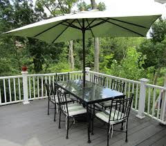 patio table with 6 chairs umbrella and stand metal framed table with glass top