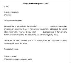 Acknowledgement Letters For Resumes Port By Port