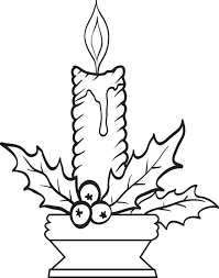 Small Picture Free Printable Christmas Candles Coloring Page for Kids 3