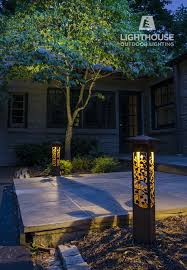 Nightscaping Low Voltage Lighting Nightscaping Grove Path Lights Decorate An Entryway To A