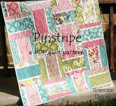 Free Baby Quilt Patterns Using Layer Cakes Make 3 Versions Of ... & ... Pdf Quilt Pattern Pinstripe Layer Cake Squares Uses One Layer Cake Plus  A Couple Extras Makes ... Adamdwight.com