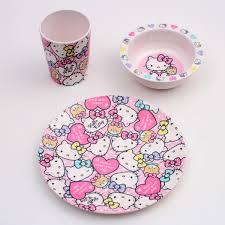 melamine tableware three points set o kitty kt pastel empty furube b gift present kids child
