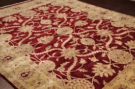 rugsville traditional wool red gold rug 8 x 10