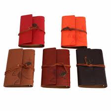 vine notebook diary string leaf travel leather paper journal book sketchbook
