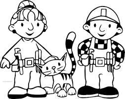 Small Picture Bob The Builder Wendy Cat And Bob Coloring Page Wecoloringpage
