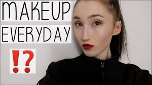 do i wear makeup everyday full se makeup grwm university dance show vlog