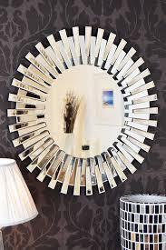 Small Picture Modern Unique 3D Sunburst All Glass Venetian Round Wall Mirror 3Ft