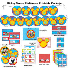 mouse clubhouse hybrid printable birthday package dessert bar mickey mouse clubhouse hybrid printable birthday package dessert bar decorations