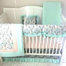 green baby bedding peach and green bedding pink and green crib bedding aqua and pink baby