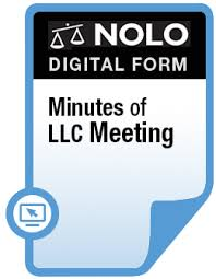 Minutes Of Llc Meeting Legal Forms Nolo